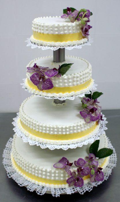 Tort weselny piętrowy 08