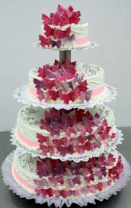 Tort weselny piętrowy 09